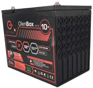 OlenBox Serie 10 12.8V102.4Ah Compressor 300x285, Olenergies - Batteries de stockage lithium LFP - French lithium battery manufacturer