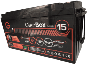 gamme batteries BMS lithium 12V, OlenBox, Olenergies - Batteries de stockage lithium LFP - French lithium battery manufacturer