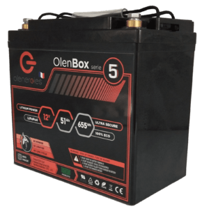 OlenBox Serie 5 12.8V51.6Ah 1 290x300, Olenergies - Batteries de stockage lithium LFP - French lithium battery manufacturer